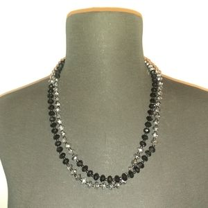 Two toned black and silver necklace